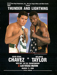 Chaves vs Taylor poster