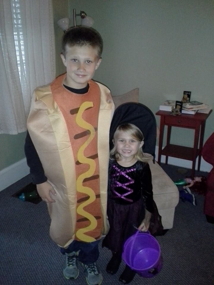 Dominic the hot dog and Adriana