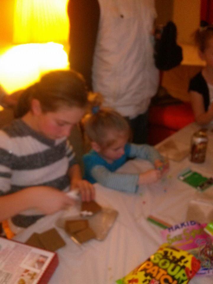 Morgan and Peyton Gingerbread houses