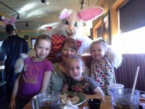 Bunny Breakfast w mommom 2014