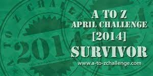 A-Z Challenge 2014 Survival badge