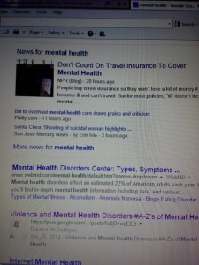 A-Z Violence Mental Health Google ranking