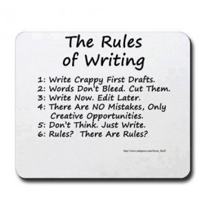 Writers rules poster
