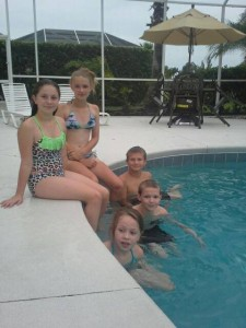 FLORIDA trip the kids by pool
