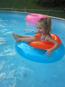 Peyton in the pool 7 22 14