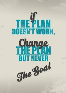 Quotes Goals change the plan not the goal