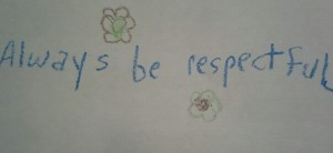 Quote be respectful
