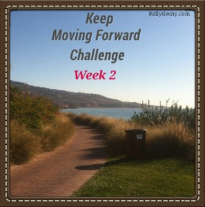 Kelly's logo Keep moving forward challenge