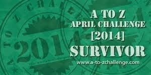 A-Z Challenge 2014 Survival badge