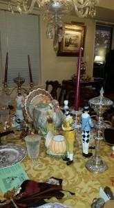 Pie tasting table
