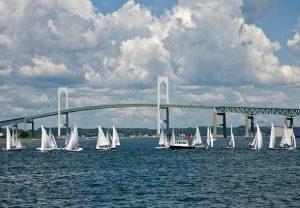 Newport Bridge Sailboats