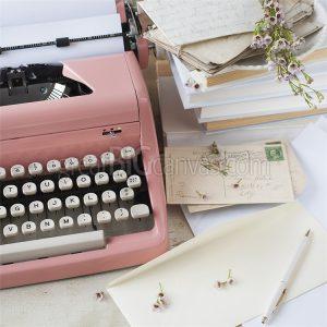 typewriter-pink