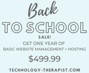 advertisement for Technology-Therapist.com